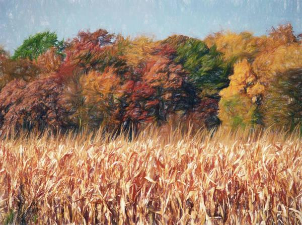 Autumn Cornfield Poster