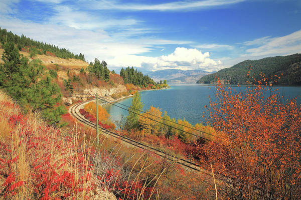 Autumn In Oyama And Kalamalka Lake Poster