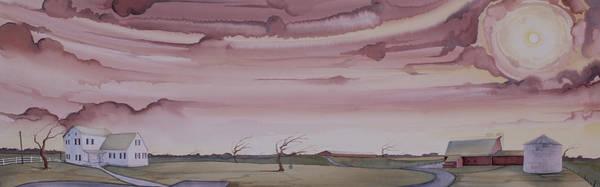 Autumn Skies On The Kirby Farm Poster