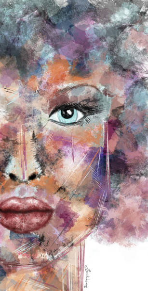 Autumn - Woman Abstract Art Poster