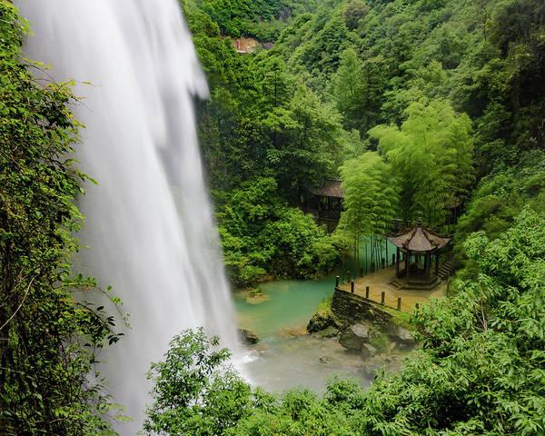 Baiyun Waterfall Poster
