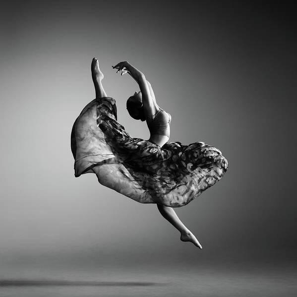 Ballerina Jumping Poster