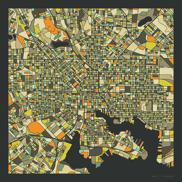 Baltimore Map 2 Poster