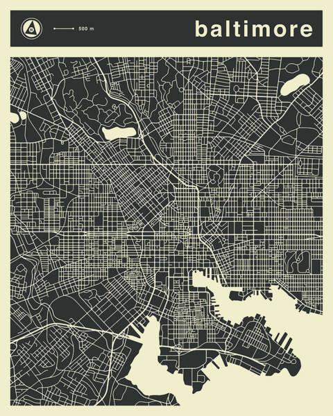 Baltimore Map 3 Poster