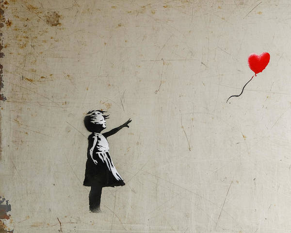 Poster featuring the photograph Banksy Balloon Girl Amsterdam by Gigi Ebert