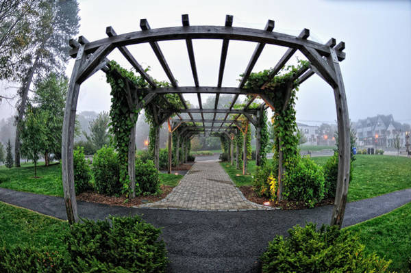 Poster featuring the photograph Bar Harbor Pergola by Tom Gresham