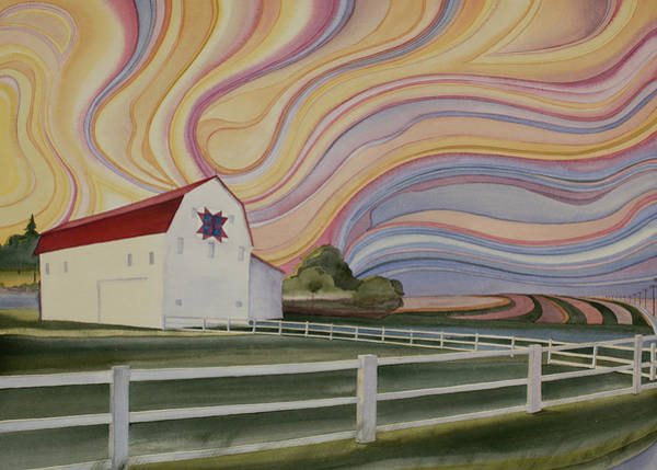 Poster featuring the painting Barn On Pretty Prairie by Scott Kirby