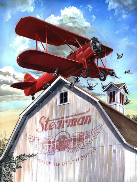 Poster featuring the painting Barn Stormer - Customizeable by Clint Hansen