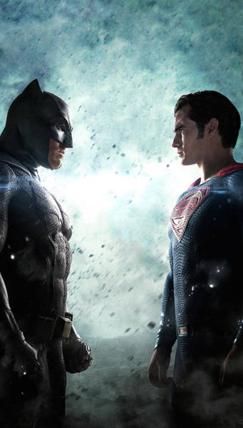 Batman V Superman Dawn Of Justice Textless Poster Poster