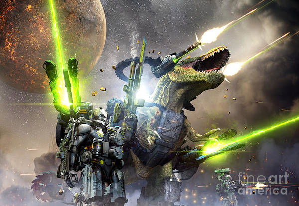 Battle Rex And A Team Of Commandos Poster