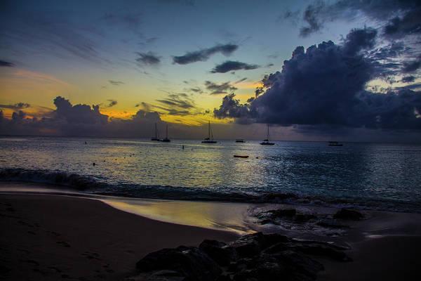 Beach At Sunset 3 Poster