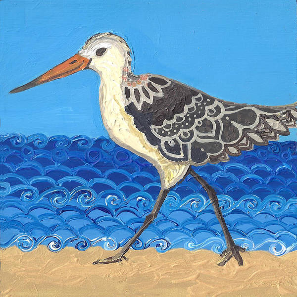 Poster featuring the painting Beach Bird 2 by Caroline Sainis