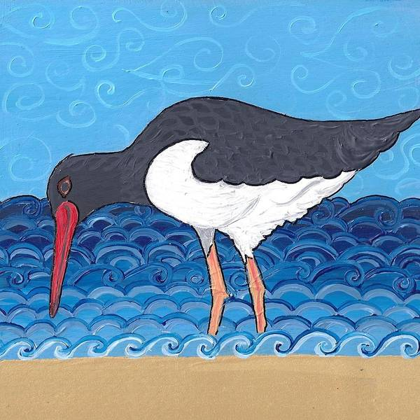 Poster featuring the painting Beach Bird 4 by Caroline Sainis