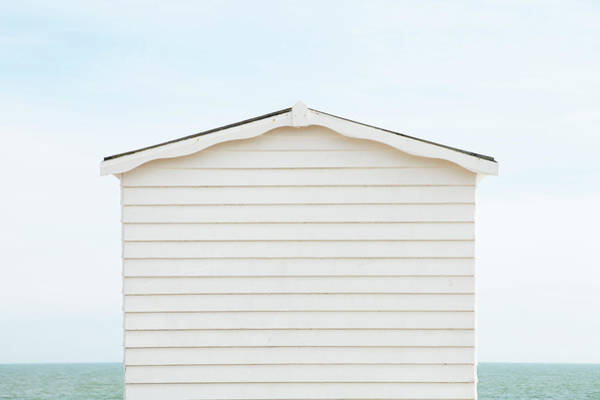 Beach Hut And Sea Poster