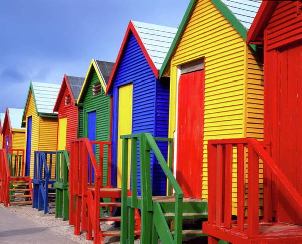 Beach Huts, Fish Hoek, Cape Peninsula Poster