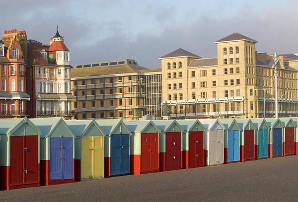Beach Huts In Brighton Poster