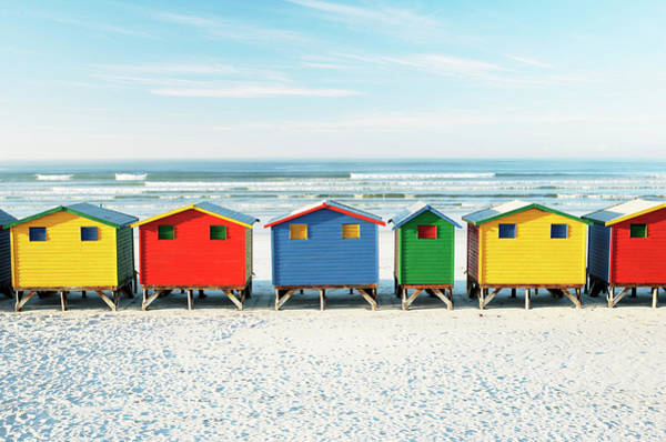 Beach Huts, St James Beach, Western Poster