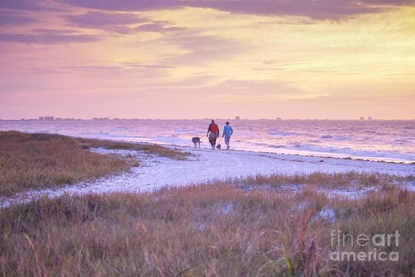 Sunrise Stroll On The Beach Poster
