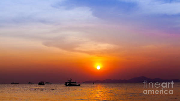 Beautiful Landscape. Sunset On The Poster