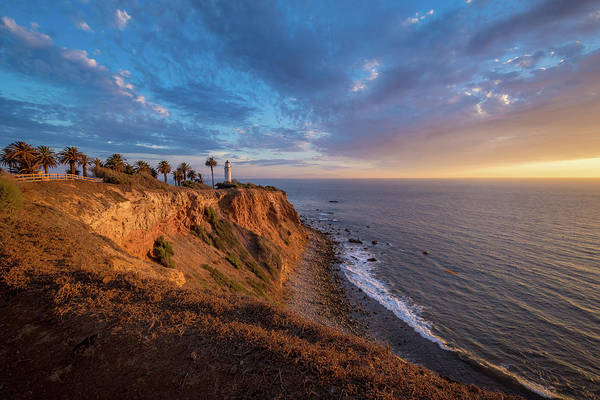 Beautiful Point Vicente Lighthouse At Sunset Poster