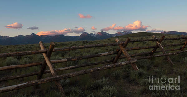 Beaverhead Clouds And Fence Poster