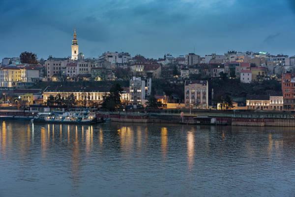 Belgrade Skyline And Sava River Poster
