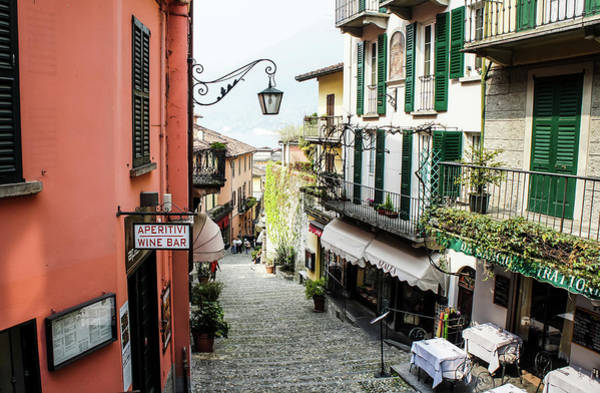 Poster featuring the photograph Bellagio Steet, Italy by Dawn Richards