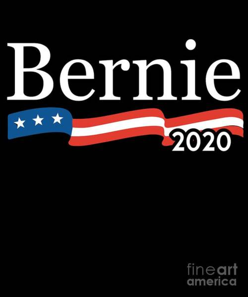 Poster featuring the digital art Bernie For President 2020 by Flippin Sweet Gear