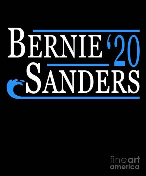 Poster featuring the digital art Bernie Sanders Blue Wave 2020 by Flippin Sweet Gear