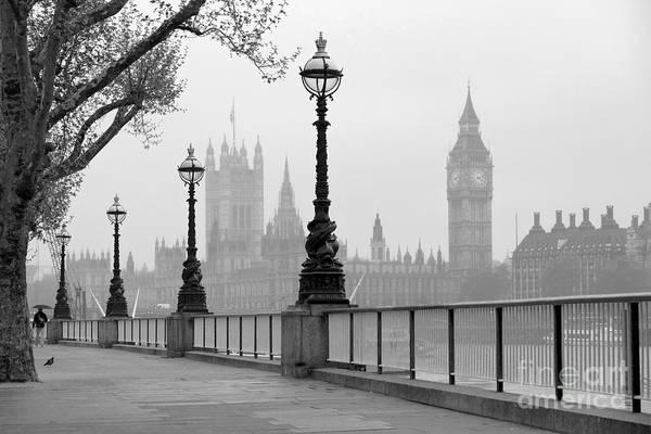 Big Ben & Houses Of Parliament, Black Poster