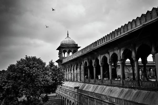 Poster featuring the photograph Birds Over The Jama Masjid by Whitney Goodey