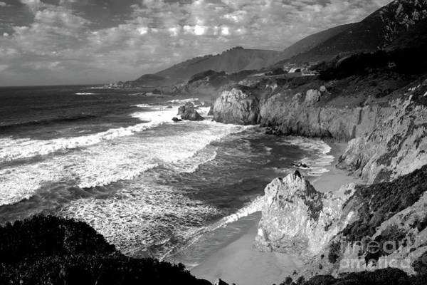 Black And White Big Sur Poster