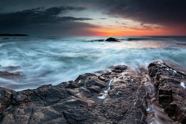 Black Sea Rocks Poster