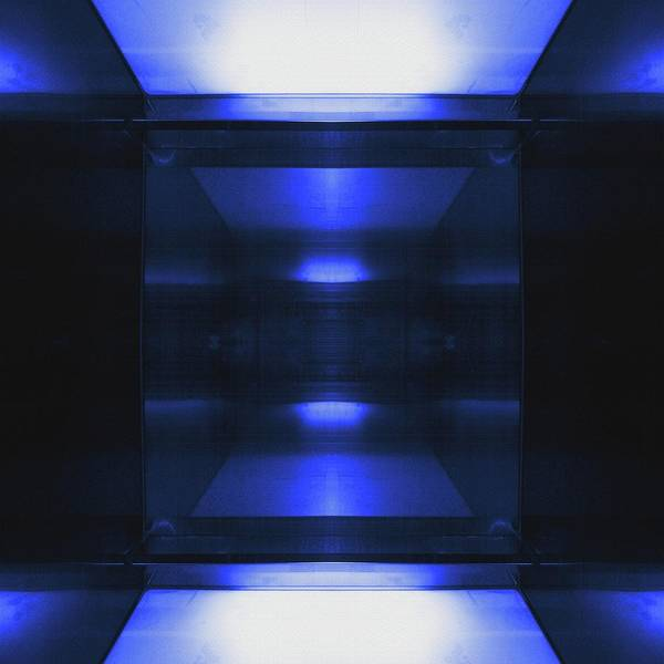 Blue Aluminum Surface. Metallic Geometric  Fashion Background Poster