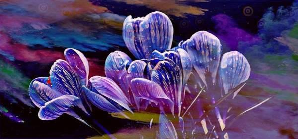 Blue Bloom Poster