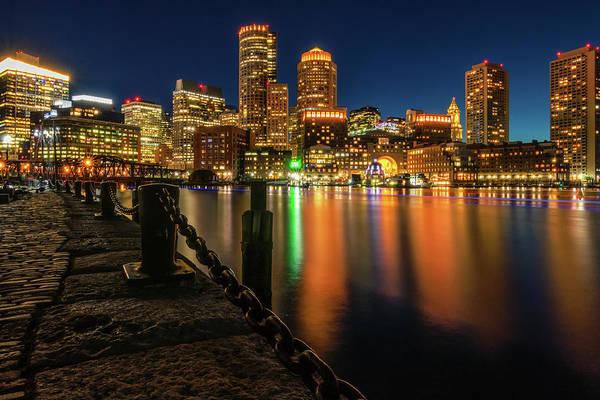 Blue Hour At Boston's Fan Pier Poster