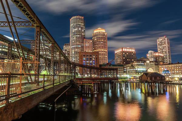 Blue Hour In Boston Harbor Poster