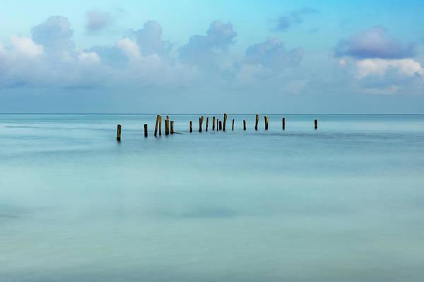 Blue Mayan Sea Poster