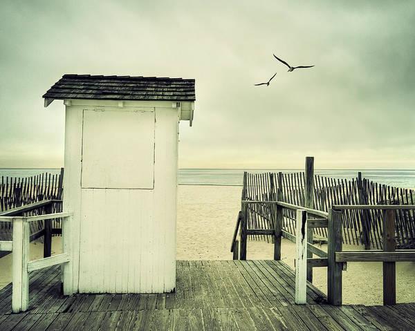 Boardwalk On Beach Poster