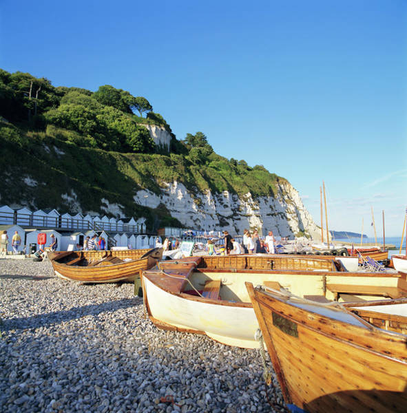 Boats On The Beach, Beer, Devon Poster