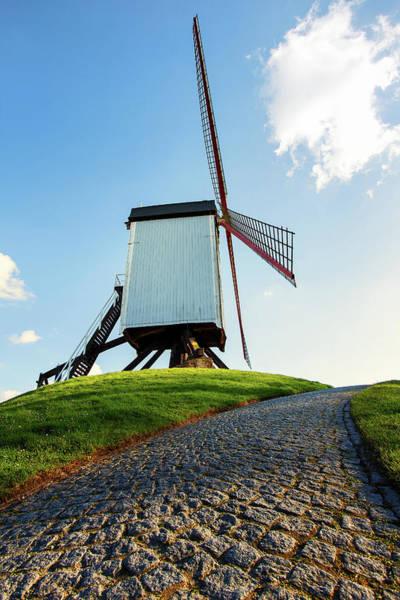 Bonne Chiere Windmill Bruges Belgium Poster
