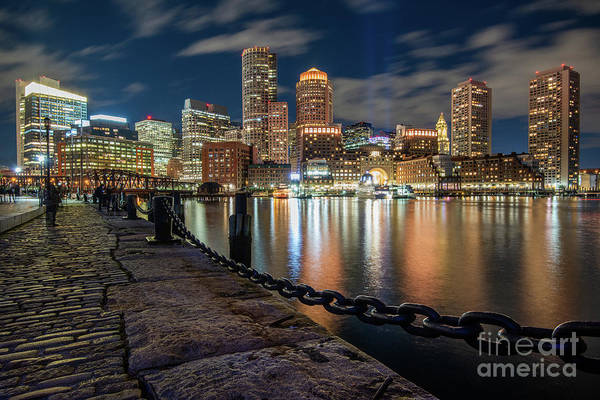 Boston At Blue Hour Poster