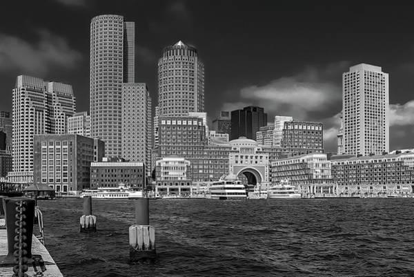 Boston Harbor Skyline Poster