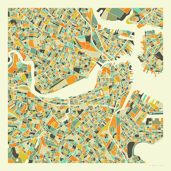 Boston Map 1 Poster