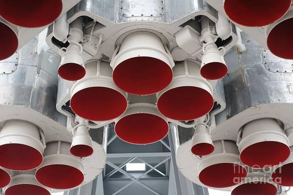Bottom Details Of Space Rocket Engine Poster