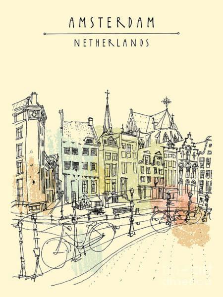 Bridge In Amsterdam, Holland Poster