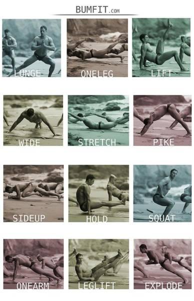 Bum Fit Beach Workout  Poster