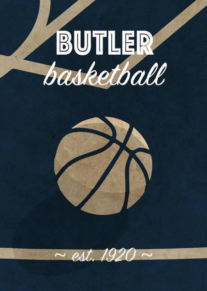 Butler University Retro College Basketball Team Poster Poster