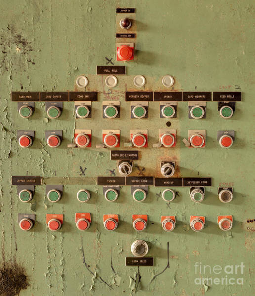 Buttons At An Old Abaonded Textile Mill Poster