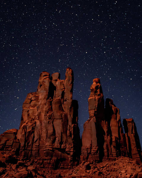 Camel Butte Under The Night Sky Poster